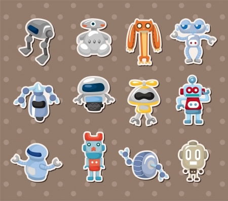 robot stickers Stock Vector - 14731153