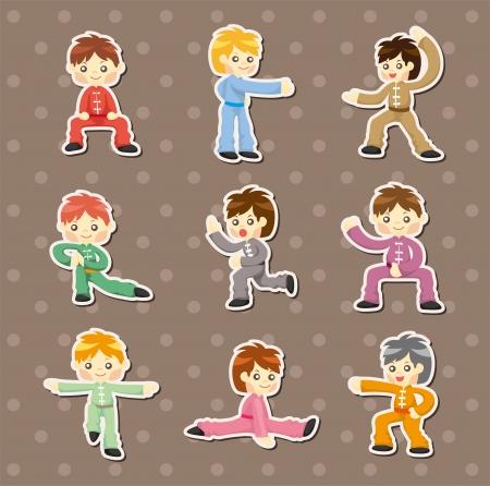 fu: cartoon chinese Kung fu stickers