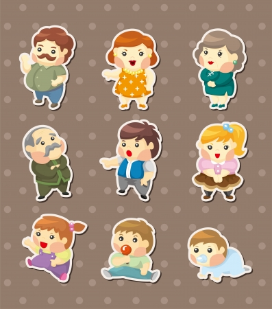 family sticers Vector