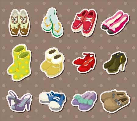 autocollants de chaussures Vecteurs