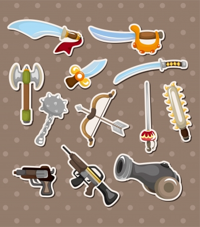 weapon stickers Vector