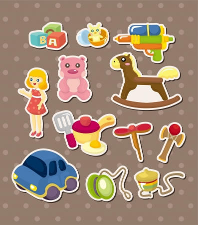 toy stickers Vector