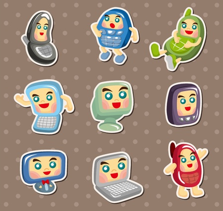 netbooks: computer and mobile phone stickers