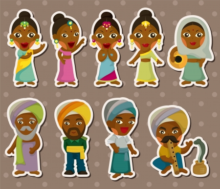 bollywood: cartoon Indiase stickers