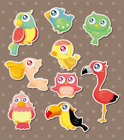 bird stickers  Illustration