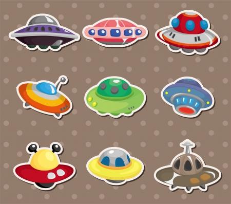 nave espacial: ufo adesivos