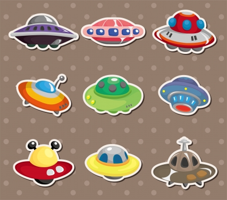 ufo stickers  Vector
