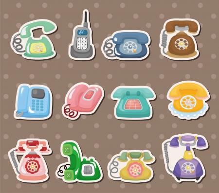 retro phone stickers