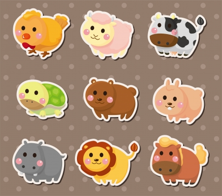 animal stickers Stock Vector - 14829427