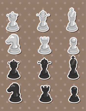 chess stickers Stock Vector - 14958129