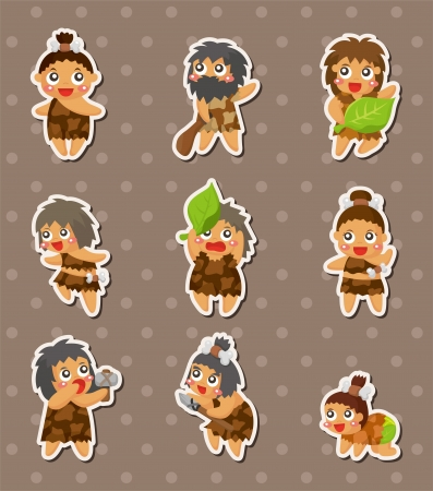 stone age: cartoon Caveman stickers