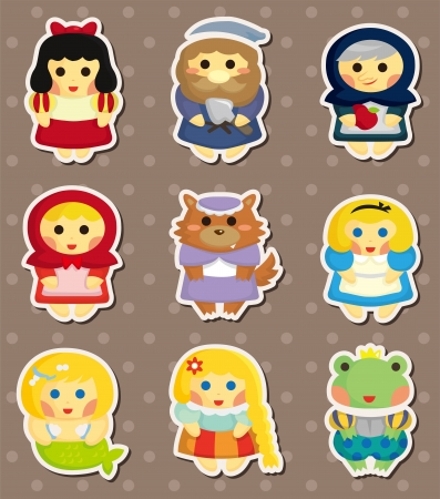 story peole stickers Vector