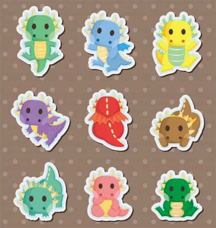 fire dragon stickers Stock Vector - 14958130