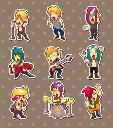 rock band stickers Vector