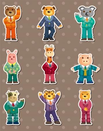 animal stickers Stock Vector - 14958148