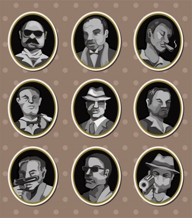 vintage cigar: mafia stickers