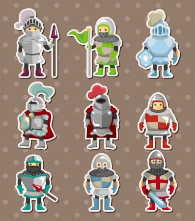 knight stickers  Vector