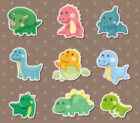 dinosaur stickers Stock Vector - 14958100