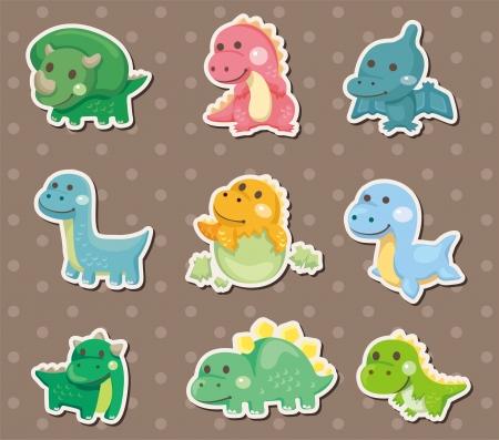 dinosaurio caricatura: pegatinas de dinosaurios