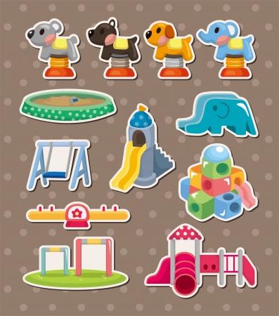 park stickers Vector Illustration