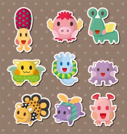monster stickers Stock Vector - 14958099