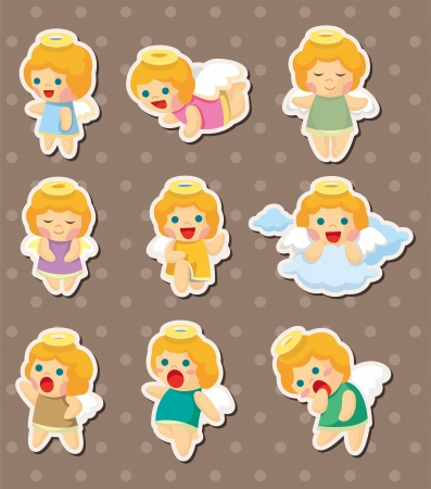 angel stickers  Vector