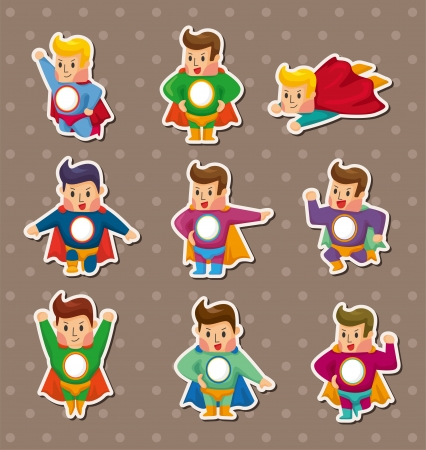 superman stickers Vector