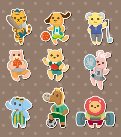 animal sport stickers Vector