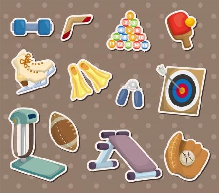 cartoon Sports Equipment stickers Vector