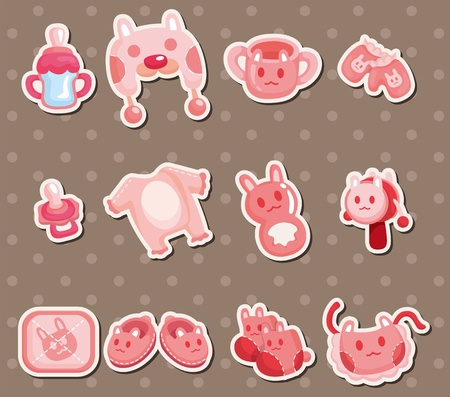 baby element stickers Vector