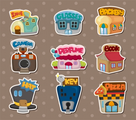 bakery store: shop stickers