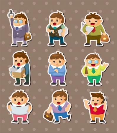 cartoon office workers stickers Stock Vector - 15015839