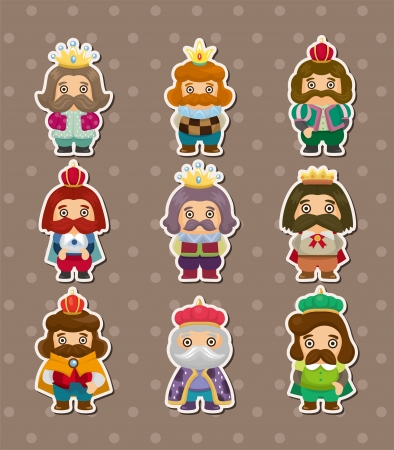 king stickers  Vector