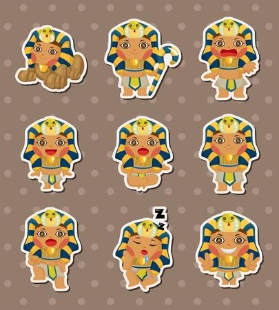 egyptian cobra: cartoon pharaoh stickers