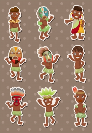 cannibal: African stickers  Illustration