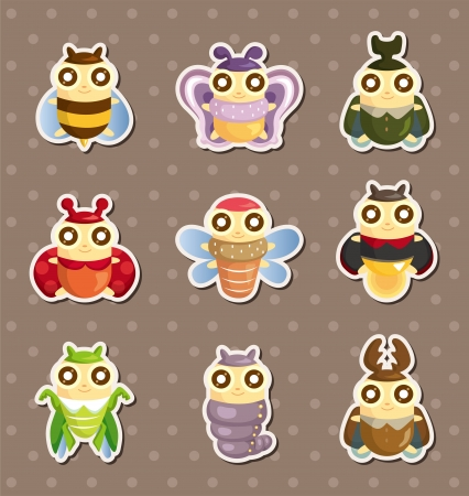 firefly: cartoon insect bug stickers
