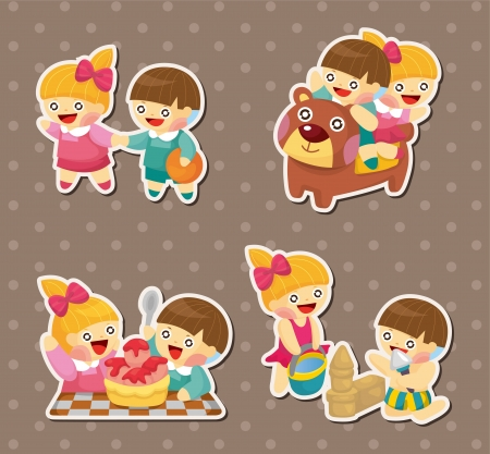 kid stickers Vector
