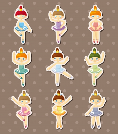dancer stickers  Vector