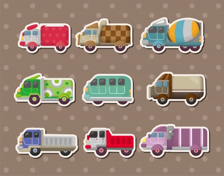 concrete mixer: truck stickers  Illustration