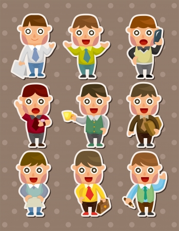 office businessman stickers Vector