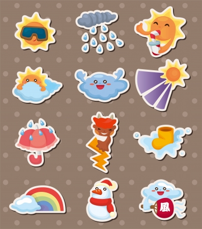 weather stickers Stock Vector - 15178840