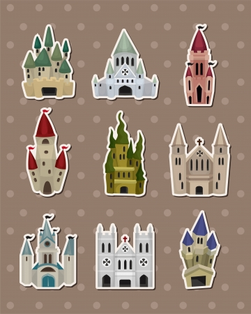 castle stickers Stock Vector - 15178836