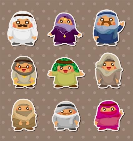 La gente de Cartoon árabes pegatinas