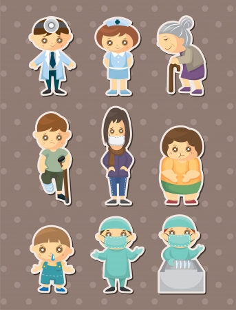 dr: doctor element stickers Illustration
