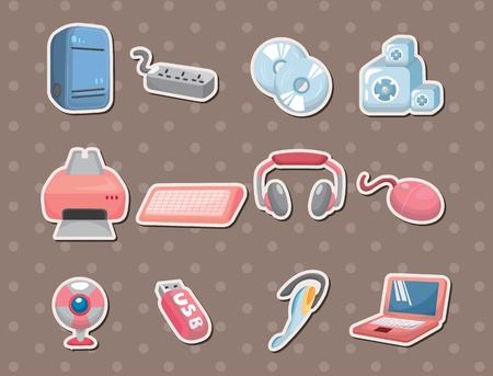 paper screens: computer stickers  Illustration