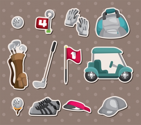 golf stickers Stock Vector - 15178870