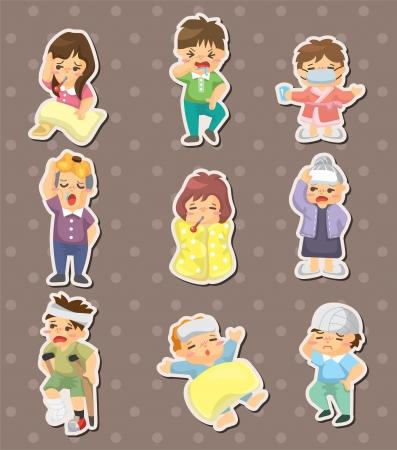 sickness: Pegatinas de Enfermos de caracteres