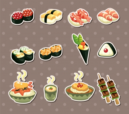 wasabi: Japanese food stickers
