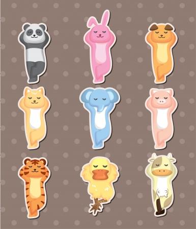 sleep animal stickers