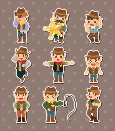cowboy stickers Stock Vector - 15178887